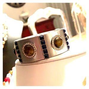 Vintage Lia Sophia Tiger's Eye bracelet!
